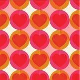 Vector naadloos patroon met harten stock illustratie