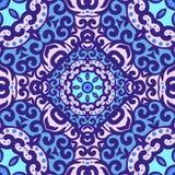Vector naadloos patroon met helder ornament Stock Afbeelding