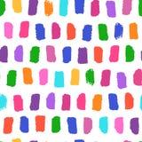 Vector naadloos patroon met heldere geschilderde penseelstrekenhand De dynamische gestreepte illustratie van de druktextuur vector illustratie