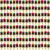 Vector naadloos patroon met het getrokken roomijs Stock Fotografie