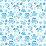 Vector naadloos patroon met het speelgoed van de babyjongen Royalty-vrije Stock Fotografie