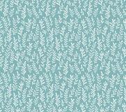 Vector naadloos patroon met installaties op lichte achtergrond stock illustratie