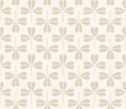 Vector naadloos patroon met klaverbladeren Stock Afbeelding