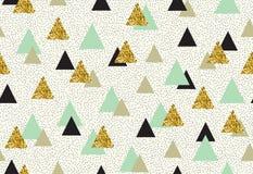 Vector naadloos patroon met kleurendriehoeken Stock Fotografie