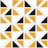 Vector naadloos patroon met kleurendriehoeken Stock Afbeelding
