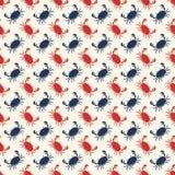 Vector naadloos patroon met krabben stock illustratie