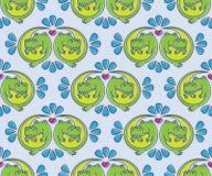 Vector naadloos patroon met krokodil vector illustratie