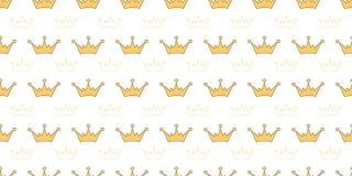 Vector naadloos patroon met kronen van prinses, koningin, feeën vector illustratie