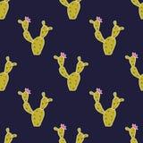 Vector naadloos patroon met leuke cactussen Royalty-vrije Stock Afbeeldingen