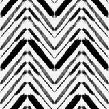Vector naadloos patroon met lijnen van de waterverf de etnische zigzag stock illustratie
