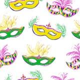 Vector naadloos patroon met maskers Royalty-vrije Stock Foto