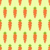Vector naadloos patroon met oranje wortelen Plantaardig de zomerpatroon, kleurrijke druk voor ontwerp Royalty-vrije Stock Foto's