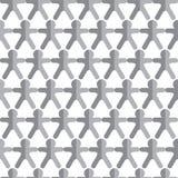 Vector naadloos patroon met pictogrammen van mensencijfer Stock Afbeeldingen