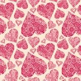 Vector naadloos patroon met romantische decoratieve herten Royalty-vrije Stock Foto