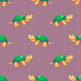 vector naadloos patroon met schildpadden Stock Foto's