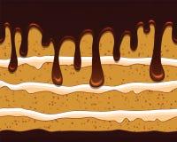 Vector naadloos patroon met smakelijke cake Stock Afbeelding