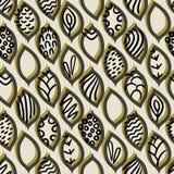 Vector naadloos patroon met verschillende abstracte bladeren royalty-vrije illustratie