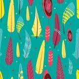 Vector naadloos patroon met verschillende grafische vogels Stock Illustratie