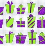 Vector naadloos patroon met vlakke beeldverhaalstijl Royalty-vrije Stock Afbeeldingen