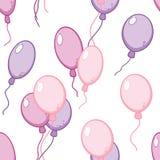 Vector naadloos patroon met vliegende ballons Stock Afbeelding
