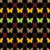 Vector Naadloos Patroon met Vlinders Modieuze grafische textuur Royalty-vrije Stock Afbeeldingen