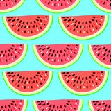 Vector naadloos patroon met vruchten Kleurrijke hand getrokken achtergrond vector illustratie
