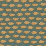 Vector naadloos patroon met zeeschelpen Stock Foto's