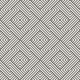 Vector naadloos patroon Moderne modieuze abstracte textuur Geometrisch herhalen stock illustratie