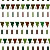 Vector naadloos patroon in moderne Skandinavische stijl Meetkundeachtergrond Stock Foto's