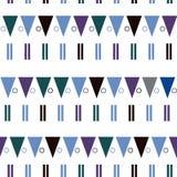 Vector naadloos patroon in moderne Skandinavische stijl Meetkundeachtergrond Stock Fotografie