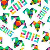Vector naadloos patroon, Nieuwjaar 2015 Stock Afbeelding