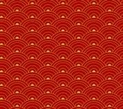 Vector Naadloos Patroon, Oosters Ornament, Aziatische Achtergrond Royalty-vrije Stock Afbeeldingen