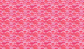 Vector Naadloos Patroon, Oosterse Achtergrond, Sakura Petals Abstract Shapes royalty-vrije illustratie