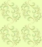 Vector naadloos patroon op groen. Royalty-vrije Stock Afbeeldingen