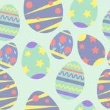 Vector naadloos patroon op het thema van Pasen en de lente De illustratie van het beeldverhaal royalty-vrije illustratie