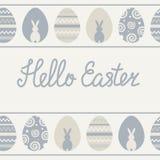 Vector naadloos patroon op het thema van Pasen en de lente De illustratie van het beeldverhaal stock illustratie