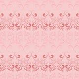 Vector naadloos patroon op roze. Stock Afbeelding