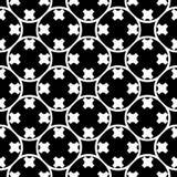 Vector naadloos patroon, rond gemaakt rooster met kruisen Royalty-vrije Stock Fotografie