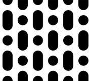 Vector naadloos patroon, rond gemaakte lijnen & cirkels Stock Fotografie