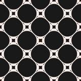 Vector naadloos patroon, subtiele geometrische textuur met cirkels Royalty-vrije Stock Afbeelding