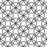 Vector naadloos patroon, textuur met ballen Stock Fotografie