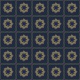 Vector naadloos patroon van abstracte bloemen in subtiele donkere kleur vector illustratie
