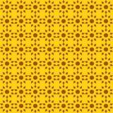 Vector naadloos patroon van abstracte zonnen in heldere kleur stock illustratie