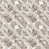 Vector Naadloos Patroon van Bladeren Stock Foto