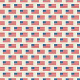Vector naadloos patroon van de vlag van de V.S. stock illustratie