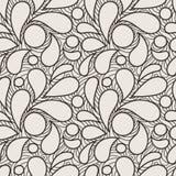 Vector naadloos patroon van gestileerde bloemblaadjes Stock Foto's