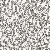 Vector naadloos patroon van gestileerde bloemblaadjes Royalty-vrije Stock Foto's