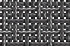 Vector naadloos patroon van gestreepte stof gevlechte koorden vector illustratie