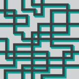 Vector naadloos patroon van grijze lijnen Stock Afbeeldingen
