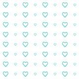 Vector naadloos patroon van harten, eenvoudig en schoon stock illustratie